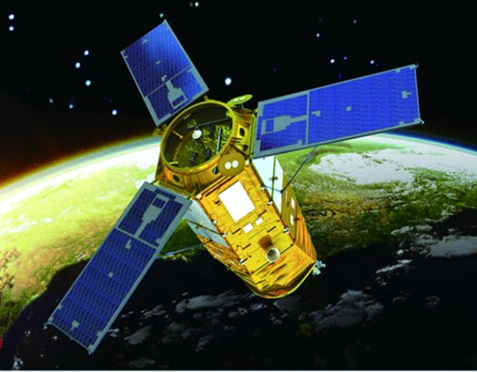 다목적실용위성인 아리랑 3A호는 528km 상공에서 4년간 지구의 기후나 환경 변화를 관측할 예정이다. - 한국항공우주연구원 제공